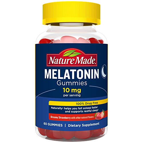 Nature Made Melatonin 10 mg Gummies for Supporting Restful Sleep 60 Count