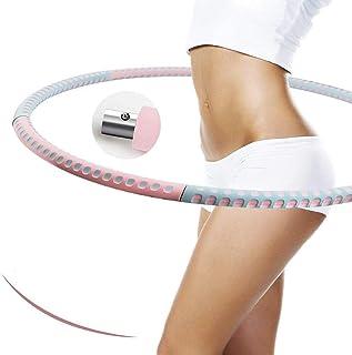 Hula Hoop Fitness Hula Hoop för vuxna 6 sektioner Professionell Hula Hoop Mer stabil och avtagbar viktminskningsträningsri...