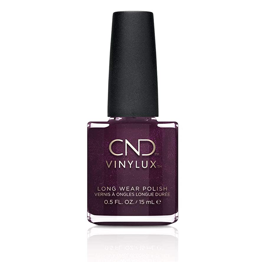 変装した捧げる病気CND Vinylux Long Wear Nail Polish (No Lamp Required), 15 ml, Purple, Plum Paisley