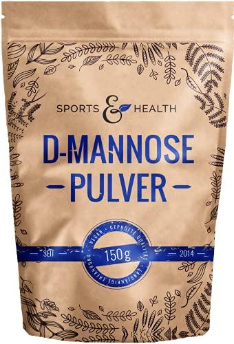 D-Mannose Pulver Als Große Packung mit 150g Mannose - Vegan Und Natürliches D Mannose Pulver Und Extra Dosierlöffel Für 75 Portionen Als 2,5 Monate Vorrat