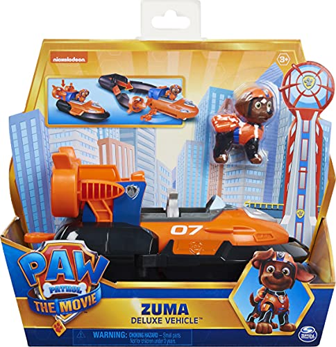 PAW PATROL Zuma'S Deluxe Movie Transforming Toy Car con Figura de acción...