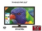 Antarion - Televisión HD LED de 39,6cm para autocaravana, 220V/12V/24V