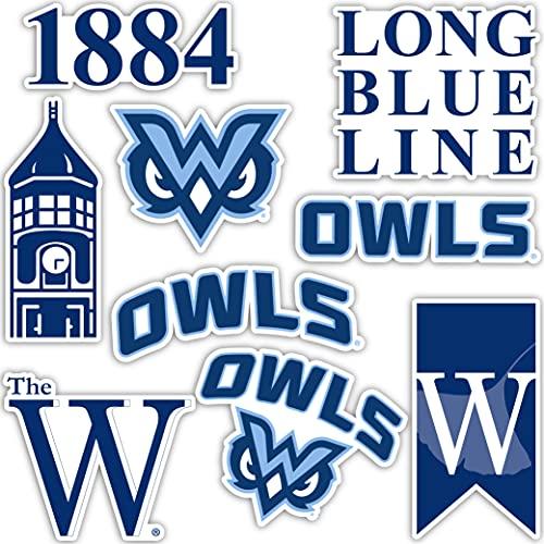 Mississippi University for Women MUW Owls Sticker Vinyl Decal Laptop Water Bottle Car Scrapbook (Type 2 Sheet)