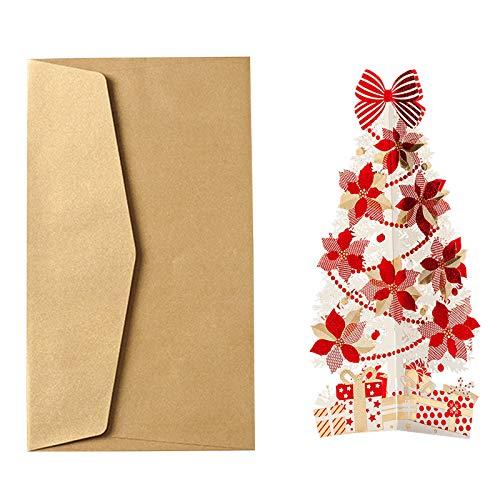 XINGYUE Tarjetas de felicitación de Navidad 3D, tarjetas de felicitación de Navidad para árboles de Navidad, Navidad, Navidad, etc