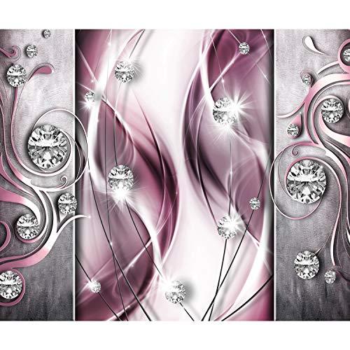 decomonkey Fototapete Abstrakt Diamant 350x256 cm XXL Design Tapete Fototapeten Vlies Tapeten Vliestapete Wandtapete moderne Wand Schlafzimmer Wohnzimmer Modern
