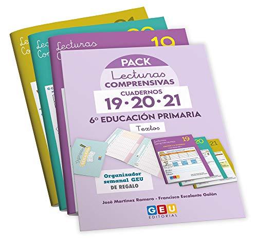 Pack Lecturas Comprensivas 6º Educación Primaria Apoyo y Comprensión Lectora + Organizador Semanal de Regalo (Niños de 11 a 12 años)