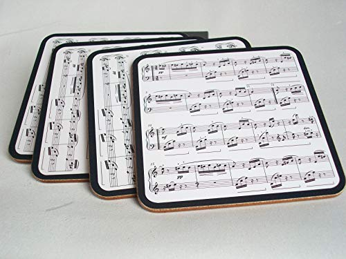 Making Music Easy Clean Heat Resistant Coasters Set 4 Musical Notes