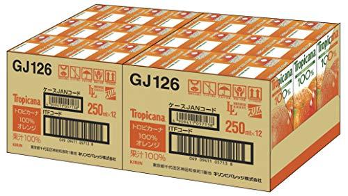 トロピカーナ100%オレンジ250ml×24本