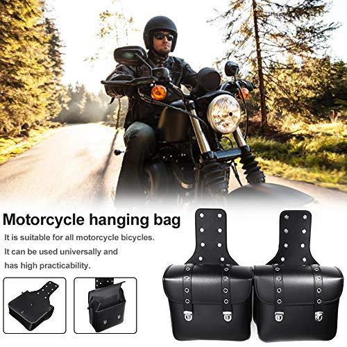 Eillybird 1 paar motorfiets zadeltas van leer en fietstas grote capaciteit waterdichte anti-val-hanger mini opbergtas