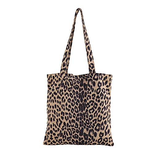 Amazon Black Sales Friday Cyber Sales Monday Sales & Deals Week 2018- Bolsa de Hombro para Mujer, diseño de Leopardo, Color Negro Beige Apricot-C L
