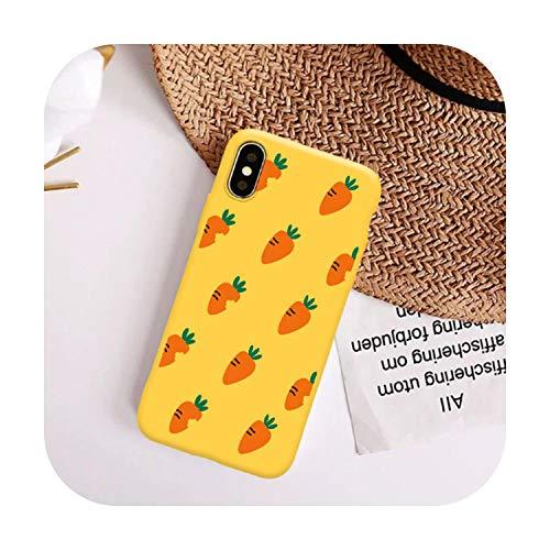 Funda de lujo para iPhone X XS MAX XR 7 8 6s Plus de silicona TPU mate suave protección trasera de zanahoria