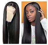 Bone Straight Human Hair Wig LAVBH13x1 Middle...