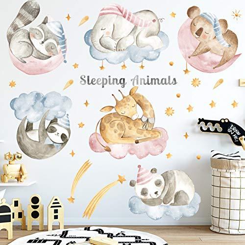 Taoyue muursticker met cartoon-motief, voor slaapkamer, kinderkamer, kleuterschool, nestkast, afneembaar, vinyl, om zelf te maken