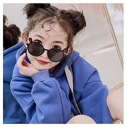 Polarizadas Niños Gafas De Sol Goma Chicas Chicos Hijos Flexible Anteojos Años 3-10 (Color : Black)