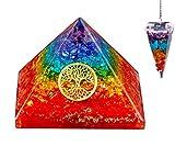 Bliss Creation Pirámide de siete chakras con péndulo