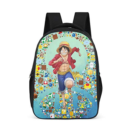 XHJQ88 Luffy Backpack Personalized Waterproof Daypack - 1 Piece Pattern Printing School Backpack Camping Use for Men&Women Grey OneSize