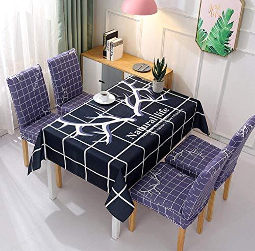ggzgyz Maison Imperméable à l'eau Nordique Petit Tissu Frais Maison Textile Nappe Nappe Nappe