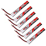 6pcs 350mAh HV 1S Lipo Battery 30C 3.8V JST-PH 2.0 Powerwhoop Connector for Tiny Whoop Micro FPV Racing Drone