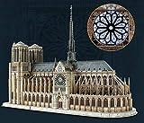 XIAOMING A Gran Escala De Rompecabezas Rompecabezas En Tres Dimensiones Iglesia De Notre Dame De Construcción DIY Creativo Montado Edificio Modelo