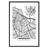 murando Poster Stadt Amsterdam 20x30 cm mit Rahmen Bilder