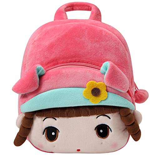 Toddler Backpack for Girls, KASGO Small Cute 3D Mini Kids Kindergarten Rucksack Soft Plush Backpack for Baby Pink Girl