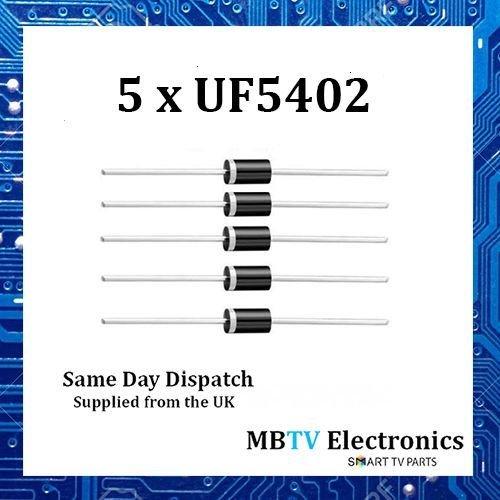 5x uf5402diodos 200V 3A 2pines do-2suave recuperación Ultra plástico rectificador