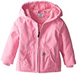 Carhartt Little Girls' Toddler Redwood Comfort Jacket, Pink, 3T