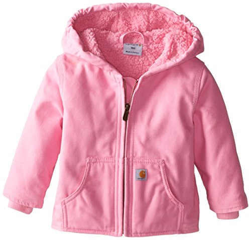 Carhartt Little Girls' Toddler Redwood Comfort Jacket, Pink, 4T