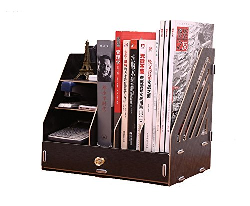 Alexzh Suministros de Madera, Caja de Almacenamiento de Escritorio, Cajón, Estantería Creativa, Información de Archivos, Estante de Papelería