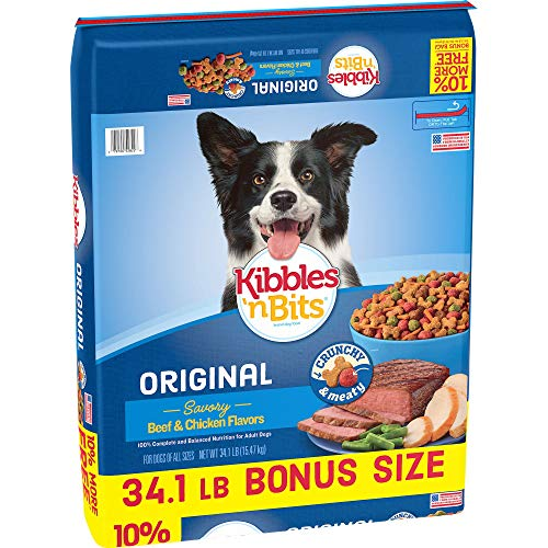 Kibbles  N Bits Original Savory Beef & Chicken Flavors Bonus Bag Dry Dog Food  34.1 Lb