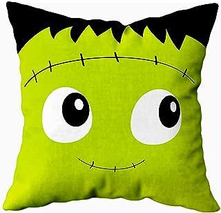 Ducan Lincoln Pillow Case 2PC 18X18,Fundas De Almohada,Fundas De Almohada Monster Square Face Icon Cute Cartoon Funny Spooky Baby Funda De Almohada Suave,Fundas De Almohada De Navidad