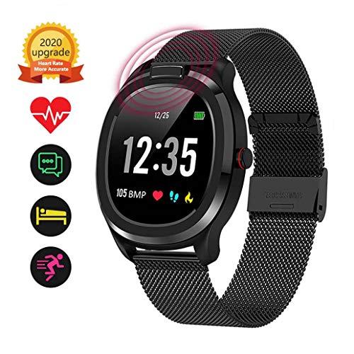 OcaseQ Fitness Trackers Smart Horloge Activiteit Trackers met Monitor Body Temperatuur Hartslag Bloeddruk Slaapmonitor Waterdichte Stappenteller Bel SMS Herinneren Muziek Controle voor Android/IOS