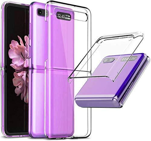 EUDTH Galaxy Z Flip Cover, Ultra Sottile Custodia Protettiva Antiurto Pieghevole in Plastica Dura Trasparente Caso Cover per Samsung Galaxy Z Flip 6.7' - Trasparente