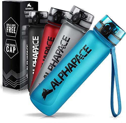 ALPHAPACE Trinkflasche, auslaufsichere 1.500 ml Wasserflasche, BPA-freie Flasche für Sport, Fahrrad & Outdooraktivitäten, in Blau