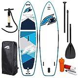 F2 Strato SUP 2021 - Tabla de surf de remo, remo y bolsa y bomba de aire, color azul