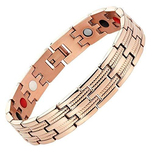 HMKLN Herren Armband Magnete Negative Ionen Germanium Ferninfrarot Titan Rotgold Armreif Armband Charm