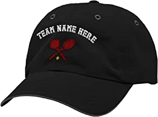 Custom Richardson Running Cap Tennis Racquets A Embroidery Team Name Polyester