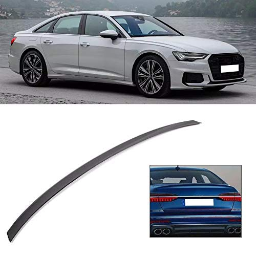 DAJIJI Coche Spoiler, Tronce Spoiler Tail Wing Gloss Black ABS para S6 Style Fit para A6 C8 2019-up Spoiler Hatchback Trasero Auto Car-Styling