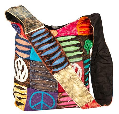 Hobo Colorful Shoulder Bag Women Sling Slouch Hippie Boho (OM-Peace)