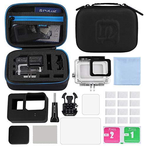 MaYing Best Kamera-Zubehör, 12 in 1 Surfen Zubehör Combo Kits mit kleiner EVA Fall (Tauchen Case + Silikon-Kaste + Objektiv HD-Schirm-Schutz + LCD Display Ausgeglichenes Glas Film + Anti-Fog Inserts +