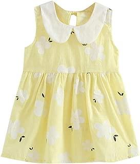 GUTTEAR Toddler Kids Baby Girls Princess Dot Cartoon Rabbit Dress Cotton Dress