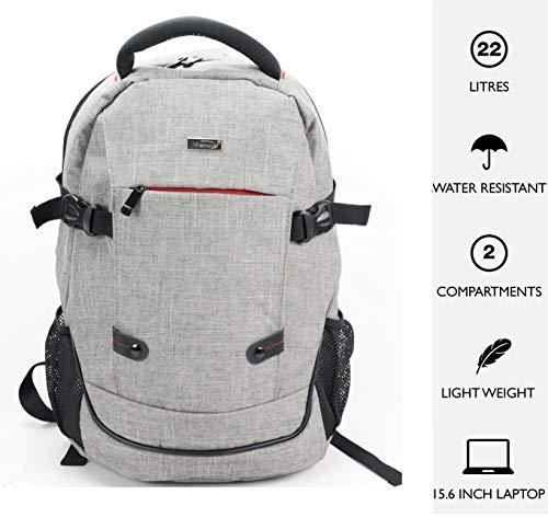 15.6' Laptop Backpack Lunch School Bag Case Padded Shoulder Bag Rucksack - Unisex - Grey