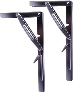 Polished Stainless Steel Folding Table Brackets Heavy Duty Bench Shelf Folding Brackets 600 lb Load