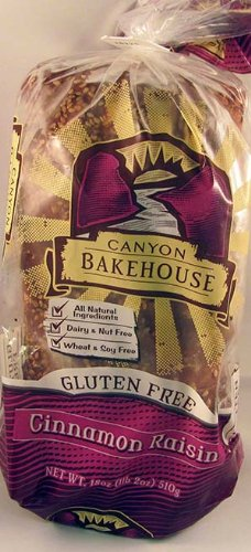 Canyon Bakehouse Gluten Free Cinnamon Raisin Bread 18oz. (Pack of 3)