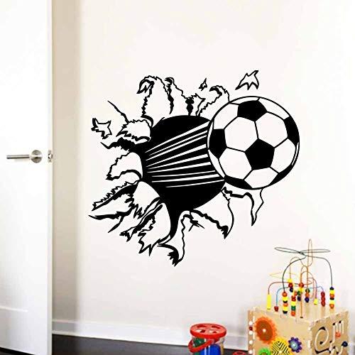 Voetbal vinyl muurstickers kinderkamer woondecoratie verwijderbare stickers decoratieve lijm 44x55cm