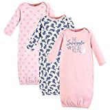 Yoga Sprout Unisex Baby Cotton Gowns, Snuggle Bunny, Preemie