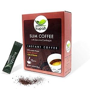 Cafe adelgazante   Kupah Slim   Cafe soluble natural   12 sobres x 3 g   36g   Garcinia Cambogia   Reduce el apetito y ayuda a adelgazar   Tostado artesanal