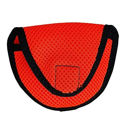 Cascos de Golf Putter Bolso protector de cabeza de putter de putter de mazo ligero con cinta de sujeción Clubes de golf Accesorios Equipo de golfista Protector de Palo de Golf ( Color : Orange )