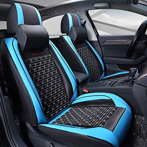 ZEQUAN Cojín del Asiento del Automóvil, Cojín del Asiento De Cuero Universal, Cojín del Asiento del Automóvil Totalmente Cerrado Asiento de Coche (Color : Black Blue)