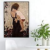 mmzki Gustav Klimt Poster und Drucke Eine Mutter Hält EIN